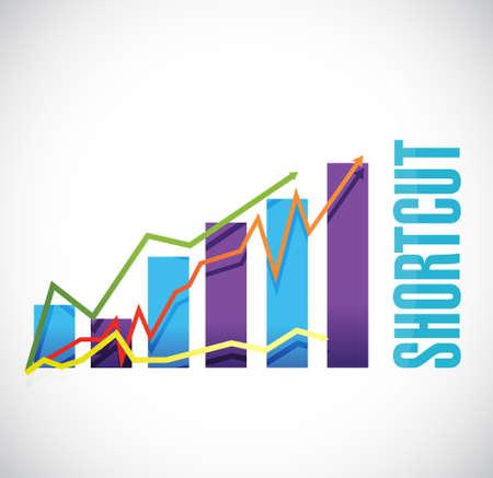 shortcut: Shortcut business graph sign concept illustration design graphic Illustration