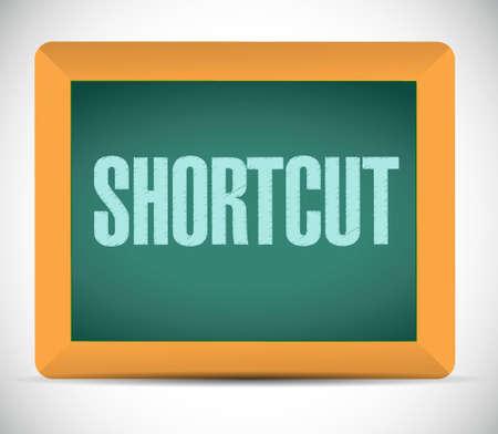 shortcut: Shortcut chalkboard sign concept illustration design graphic