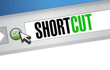 short break: Shortcut browser sign concept illustration design graphic Illustration