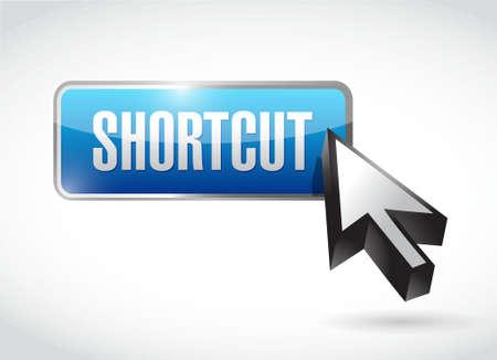 shortcut: Shortcut button sign concept illustration design graphic Illustration