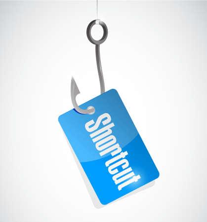 shorter: Shortcut hook sign concept illustration design graphic Illustration