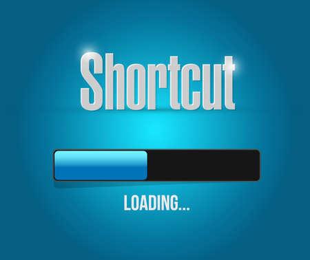 shortcut: Shortcut loading bar sign concept illustration design graphic Illustration