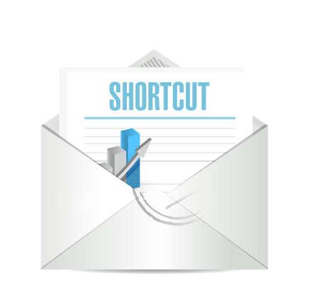 shortcut: Shortcut mail sign concept illustration design graphic