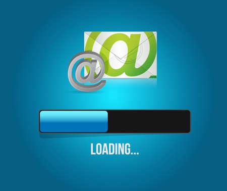 contact us globe mail loading bar illustration design graphic