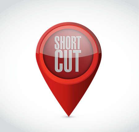 shortcut: Shortcut pointer sign concept illustration design graphic Illustration
