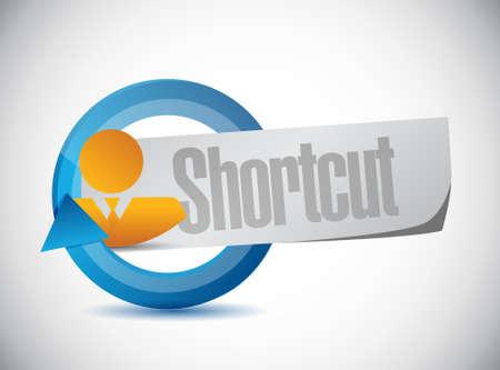 shorter: Shortcut people sign concept illustration design graphic Illustration
