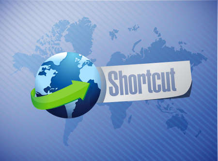 shortcut: Shortcut international sign concept illustration design graphic