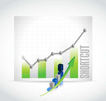 shorter: Shortcut business charts sign concept illustration design graphic