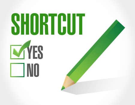 Shortcut selection sign concept illustration design graphic Ilustração