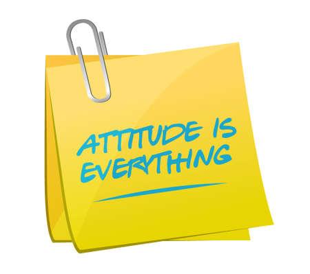 actitud: la actitud es todo mensaje publicado ilustración, diseño en blanco