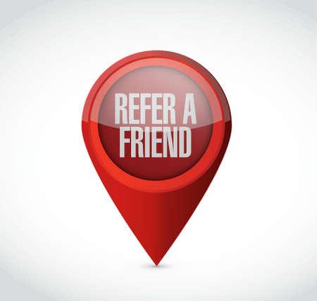 refer: refer a friend pointer sign concept illustration design Illustration