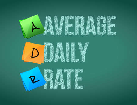 average daily rate post board sign illustration design graphic Çizim