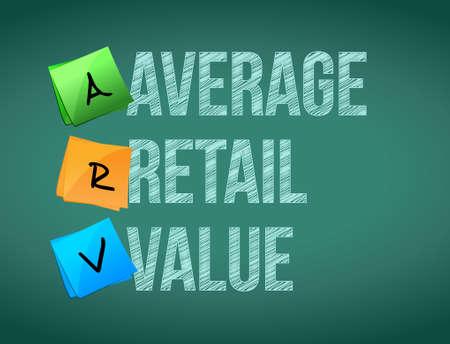 average retail value post memo chalkboard sign illustration design Çizim