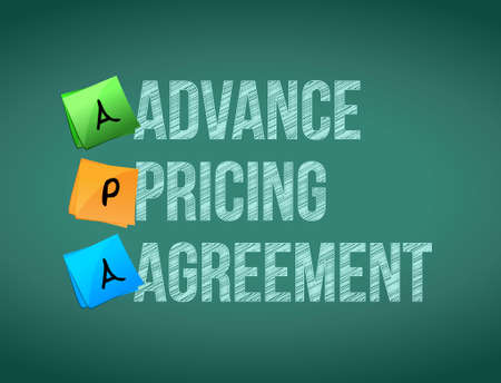 memo: advance pricing agreement post memo chalkboard sign illustration design
