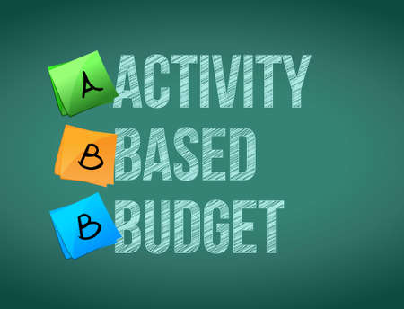 communication industry: activity based budget post board sign illustration design graphic