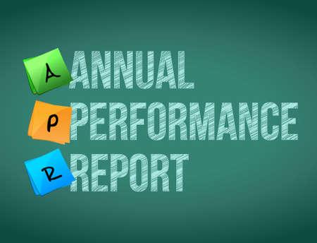annual performance report post memo chalkboard sign illustration design