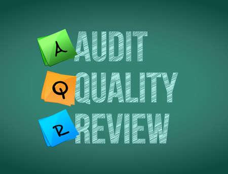 audit quality review post memo chalkboard sign illustration design Çizim