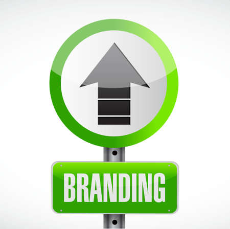 brick road: branding road sign concept illustration design graphic