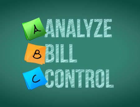 bill board: analyze bill control post board sign illustration design graphic