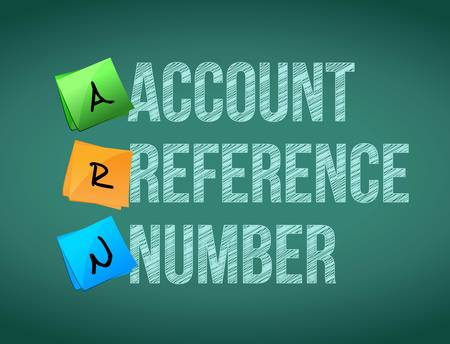 reference: account reference number post memo chalkboard sign illustration design Illustration