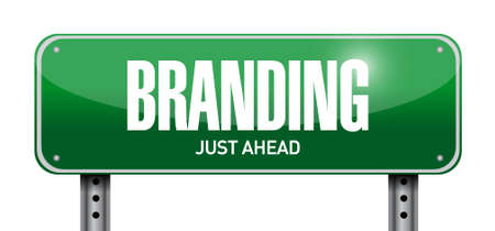 branding road sign concept illustration design graphic