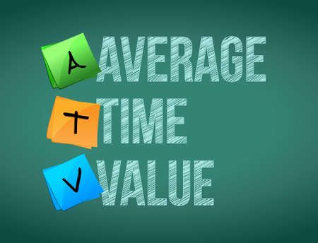 average: average time value post memo chalkboard sign illustration design