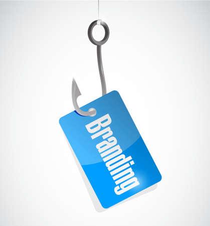 branding fishing hook sign concept illustration design graphic Çizim
