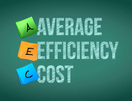 average efficiency cost post board illustration design graphic
