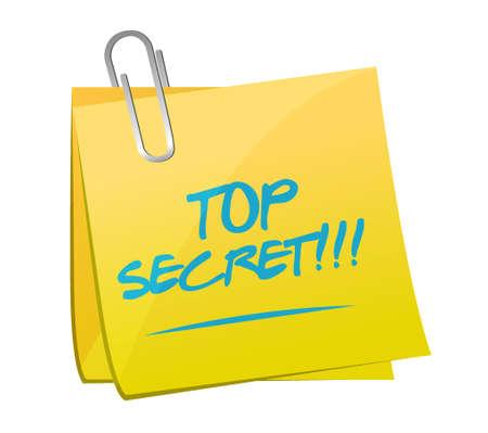 top secret post message illustration design over white