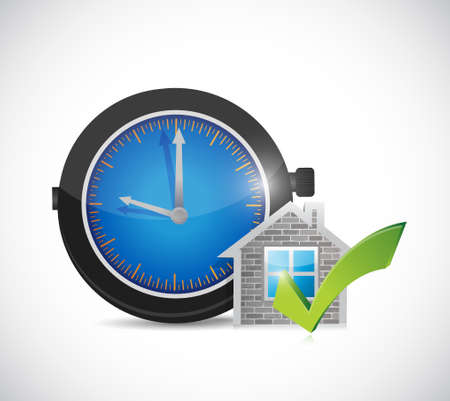 real estate home approve watch illustration design graphic over a white background Illustration