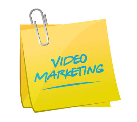 video marketing post message illustration design over white Ilustração