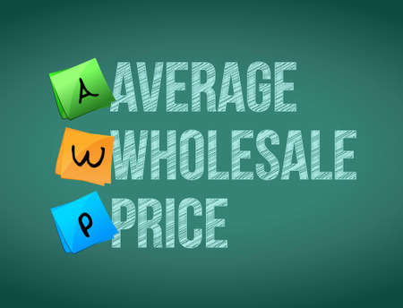 wholesale: average wholesale price post memo chalkboard sign illustration design