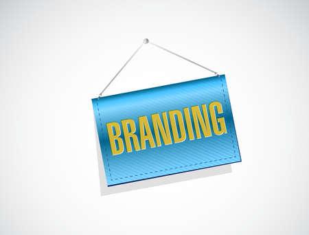 hanging banner: branding hanging banner sign concept illustration design graphic