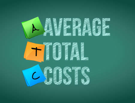 average: average total costs post memo chalkboard sign illustration design