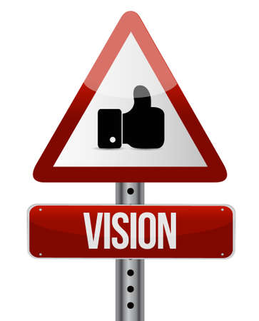 vision road sign illustration design over white