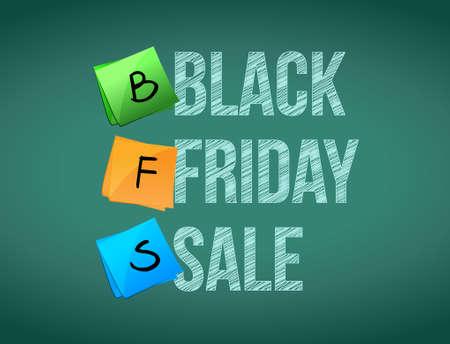 black friday sale post memo chalkboard sign illustration design