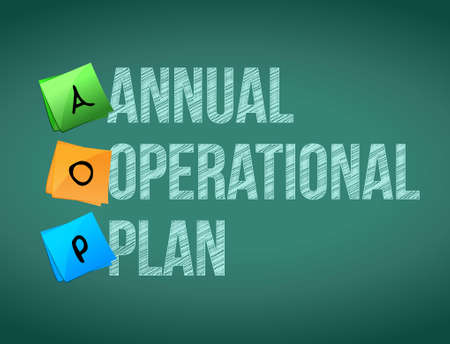 annual operational plan post memo chalkboard sign illustration design