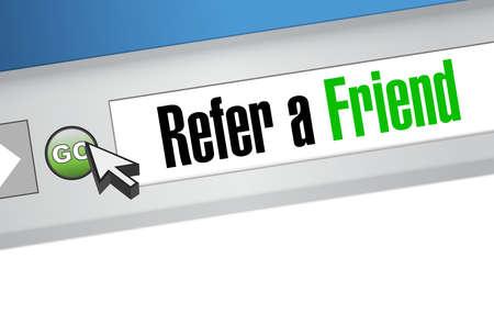refer: refer a friend web site sign concept illustration design Illustration