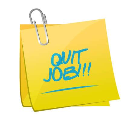 renuncia: dejar de fumar anuncio de trabajo dej� de dise�o posterior mensaje Ejemplo de trabajo sobre dise�o de ilustraci�n whitepost sobre blanco Vectores