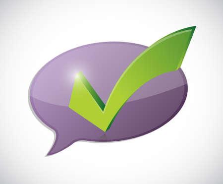 valid: check mark message of approval illustration design over white