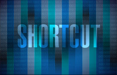 shorter: Shortcut binary sign concept illustration design graphic Stock Photo