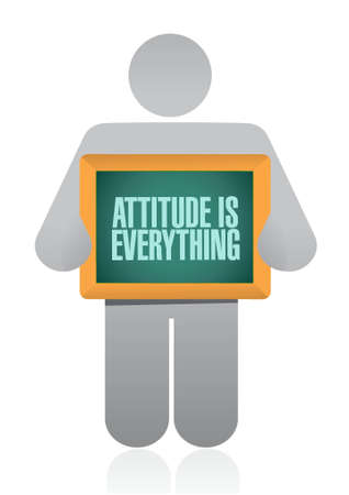 behaving: attitude is everything avatar board sign concept illustration design icon