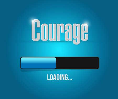odvaha zatížení bar znamení koncept ilustrační výprava kreslený
