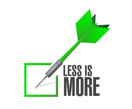 less: less is more check dart sign concept illustration design Illustration