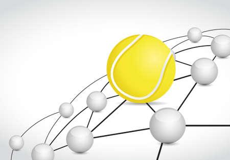 group link: tennis link sphere network connection concept illustration design graphic background
