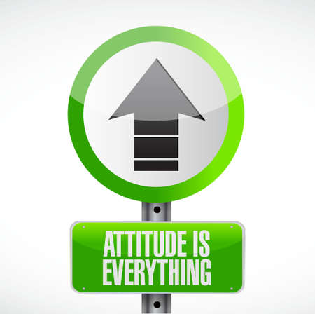 behaving: attitude is everything road sign concept illustration design icon