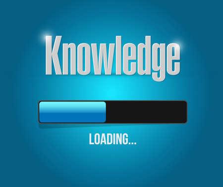 knowledge loading bar sign concept illustration design graphic
