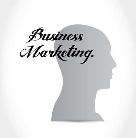 Business Marketing head sign concept illustration design graphic