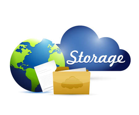 internationale cloud computing data-inhoud illustratie grafisch