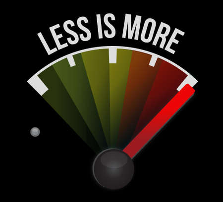 less: less is more speedometer sign concept illustration design